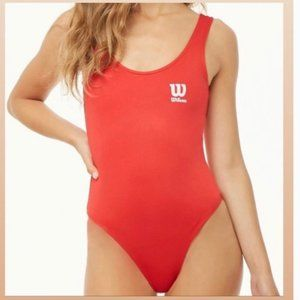 2/$20 Forever 21 x Wilson Collab Red Logo Bodysuit